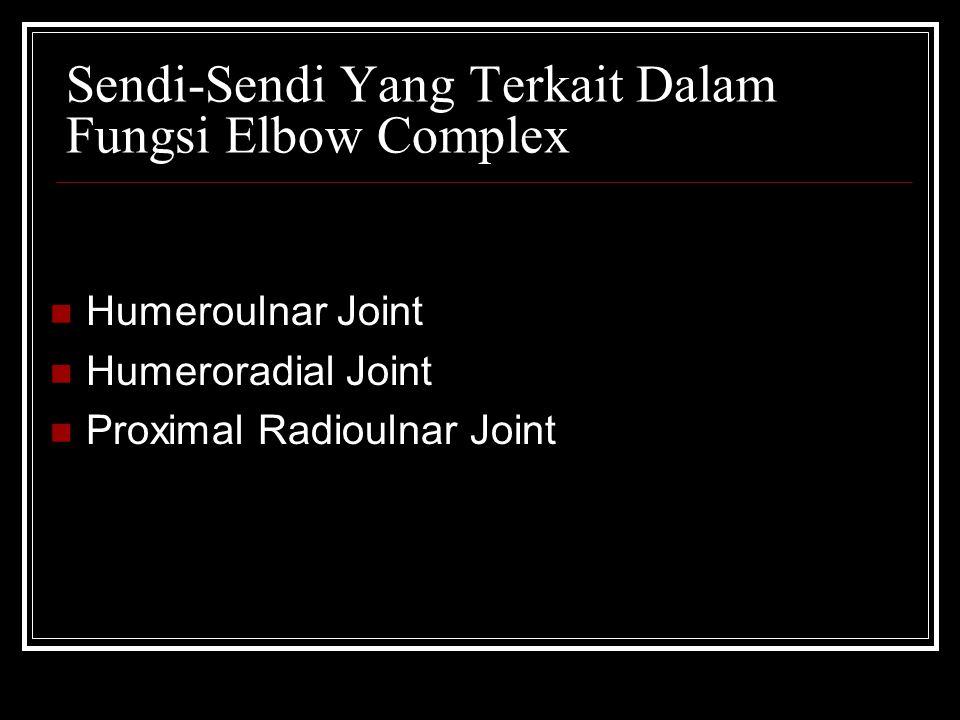 Sendi-Sendi Yang Terkait Dalam Fungsi Elbow Complex