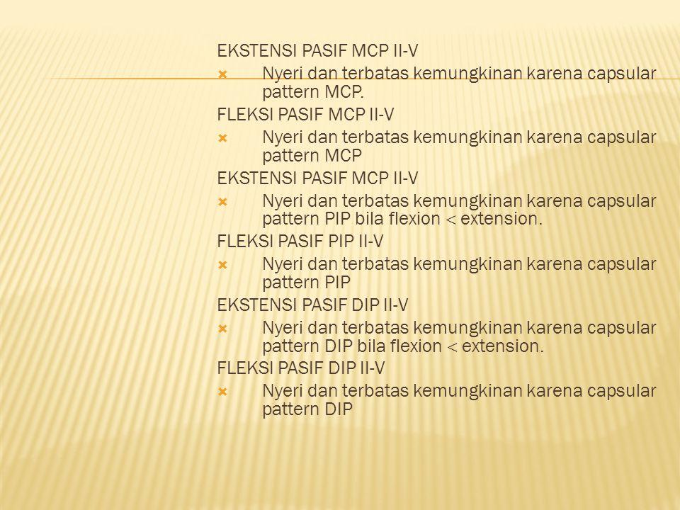 EKSTENSI PASIF MCP II-V