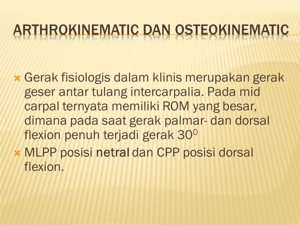Arthrokinematic dan osteokinematic