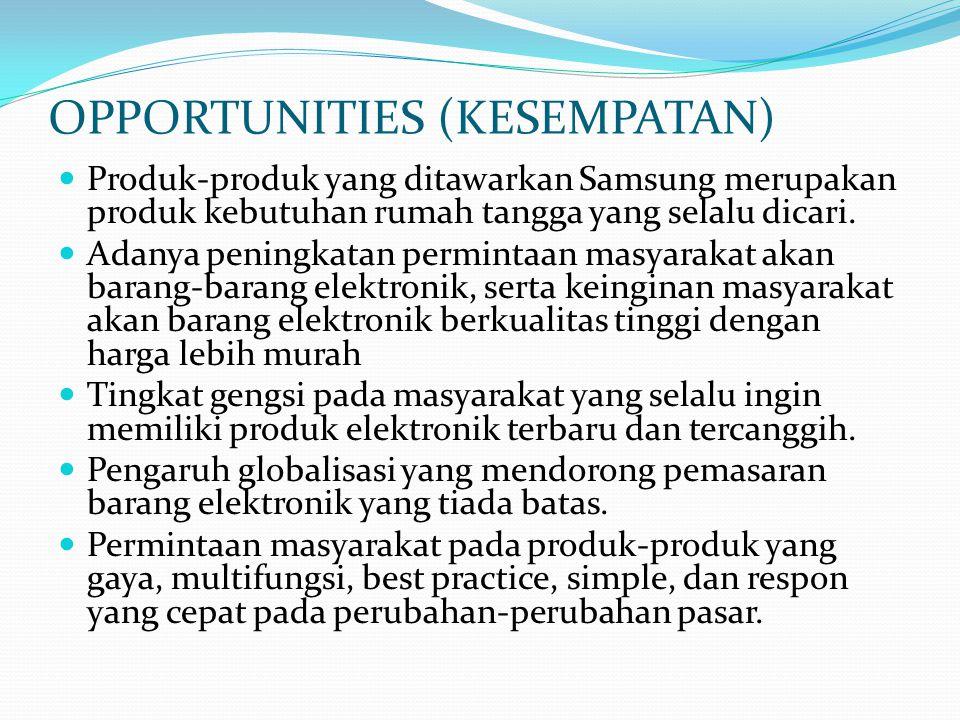 OPPORTUNITIES (KESEMPATAN)