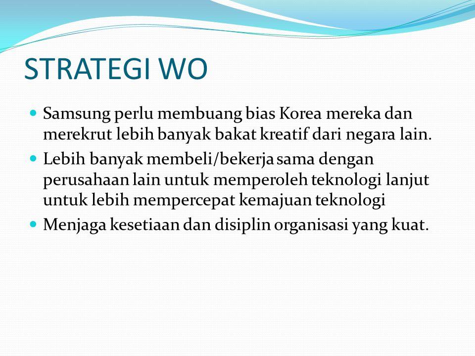 STRATEGI WO Samsung perlu membuang bias Korea mereka dan merekrut lebih banyak bakat kreatif dari negara lain.