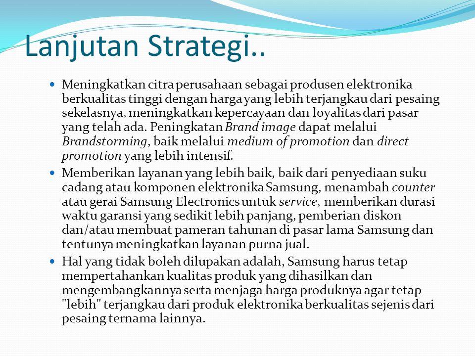 Lanjutan Strategi..