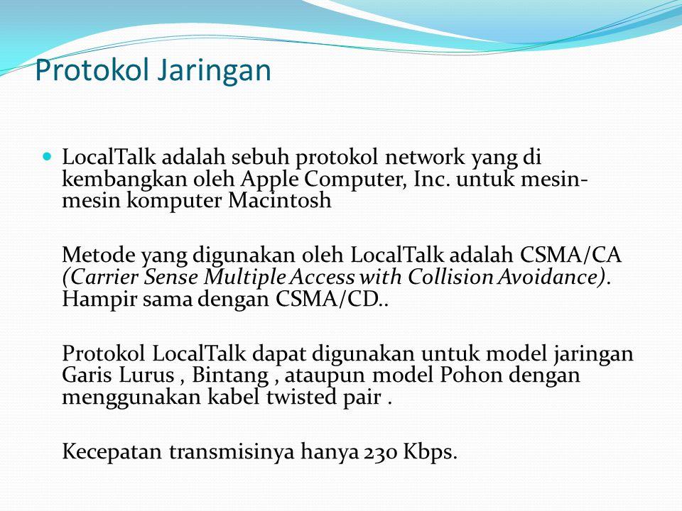 Protokol Jaringan LocalTalk adalah sebuh protokol network yang di kembangkan oleh Apple Computer, Inc. untuk mesin-mesin komputer Macintosh.