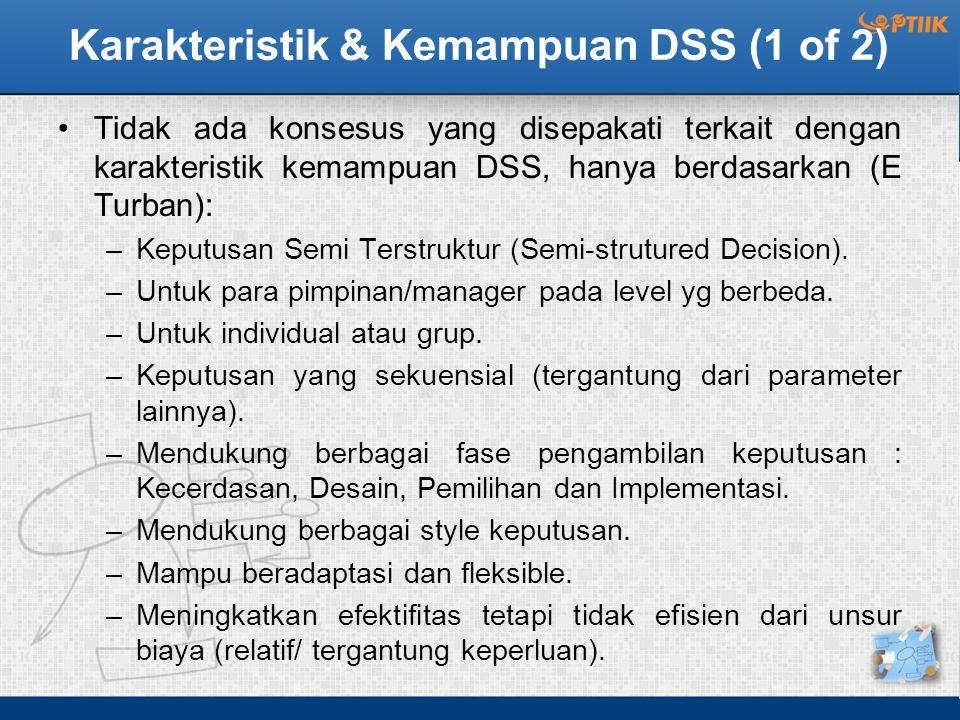 Karakteristik & Kemampuan DSS (1 of 2)