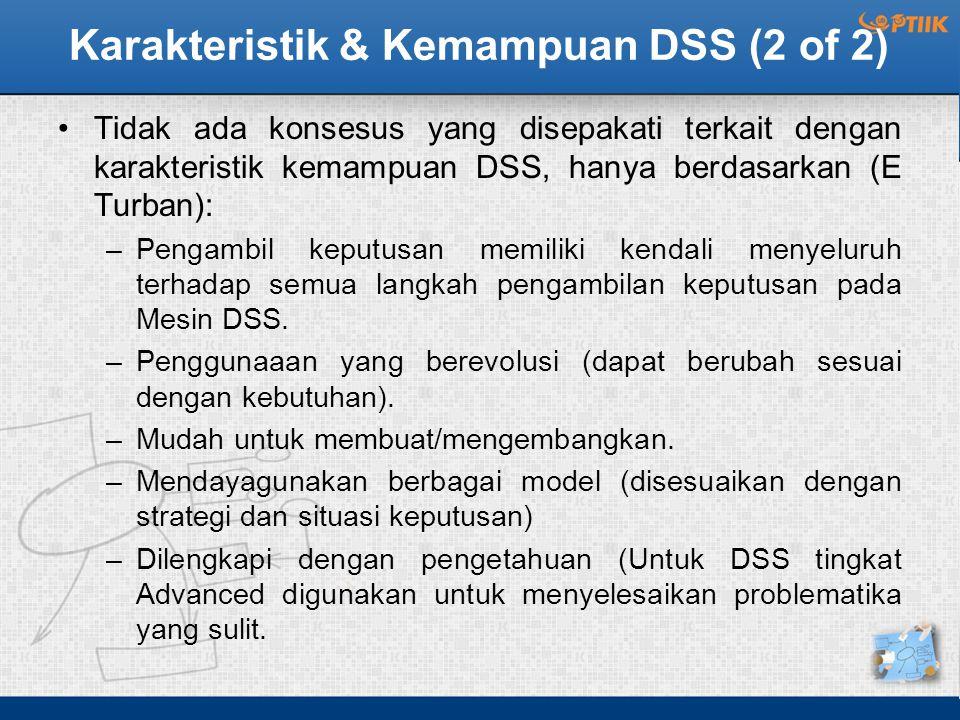 Karakteristik & Kemampuan DSS (2 of 2)