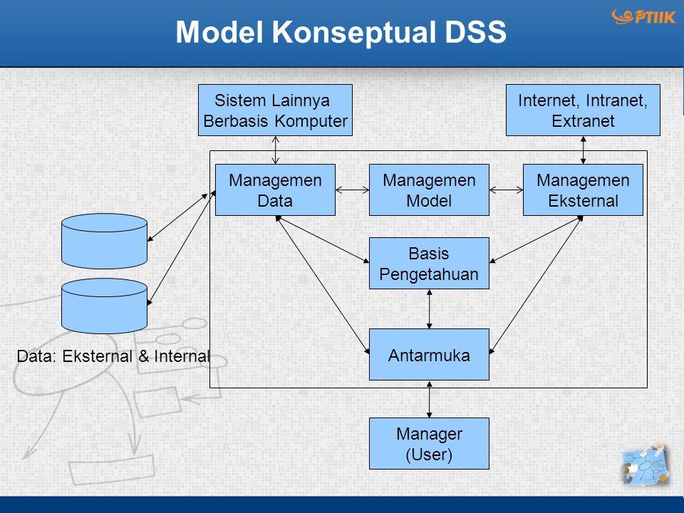 Model Konseptual DSS Sistem Lainnya Berbasis Komputer