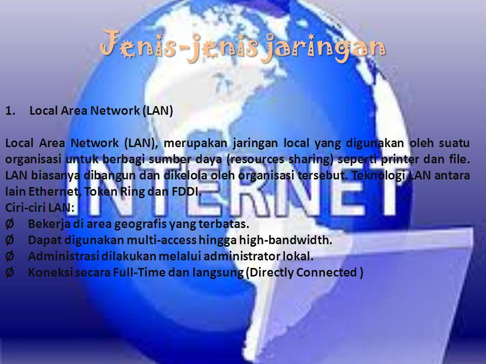 Jenis-jenis jaringan Local Area Network (LAN)