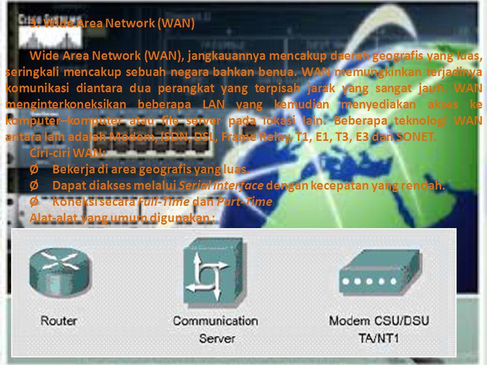 3. Wide Area Network (WAN)