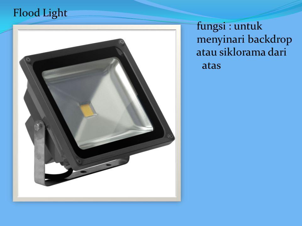 Flood Light fungsi : untuk menyinari backdrop atau siklorama dari atas