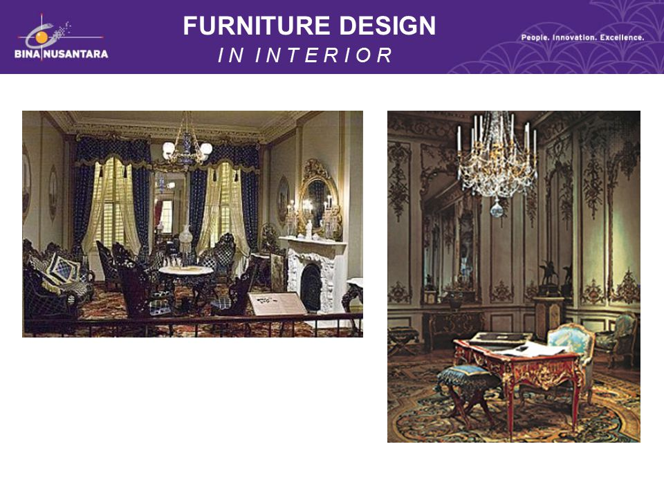 FURNITURE DESIGN I N I N T E R I O R