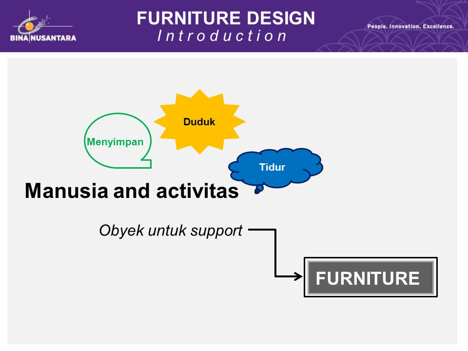 Manusia and activitas FURNITURE DESIGN FURNITURE