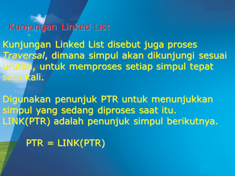 Kunjungan Linked List