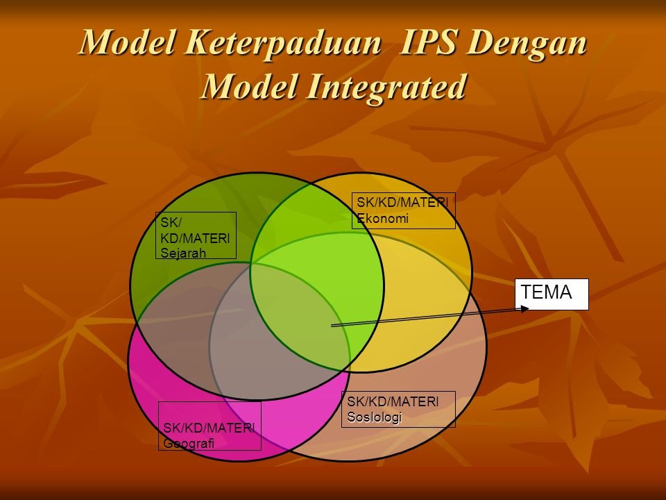Model Keterpaduan IPS Dengan Model Integrated