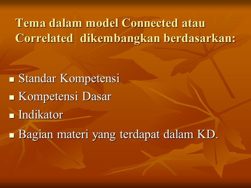 Tema dalam model Connected atau Correlated dikembangkan berdasarkan: