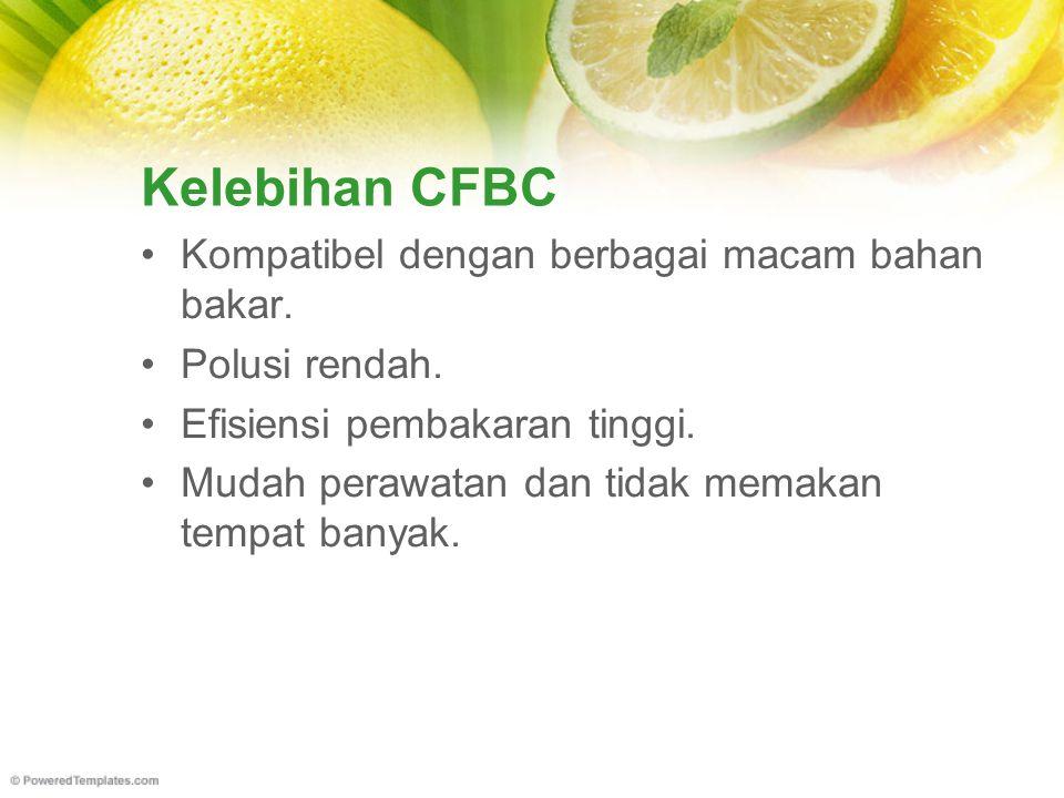 Kelebihan CFBC Kompatibel dengan berbagai macam bahan bakar.