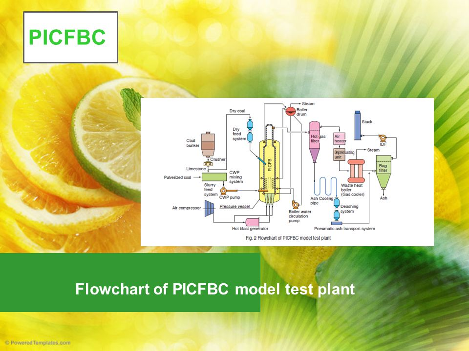 Flowchart of PICFBC model test plant