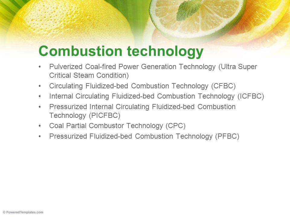 Combustion technology