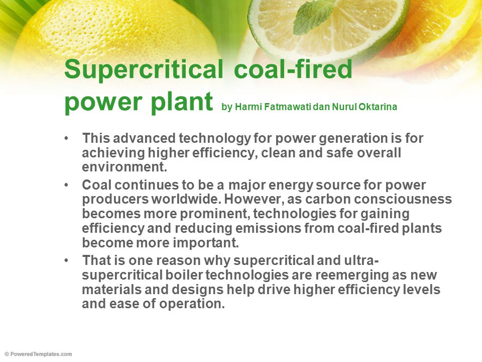 Supercritical coal-fired power plant by Harmi Fatmawati dan Nurul Oktarina