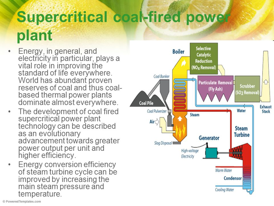 Supercritical coal-fired power plant
