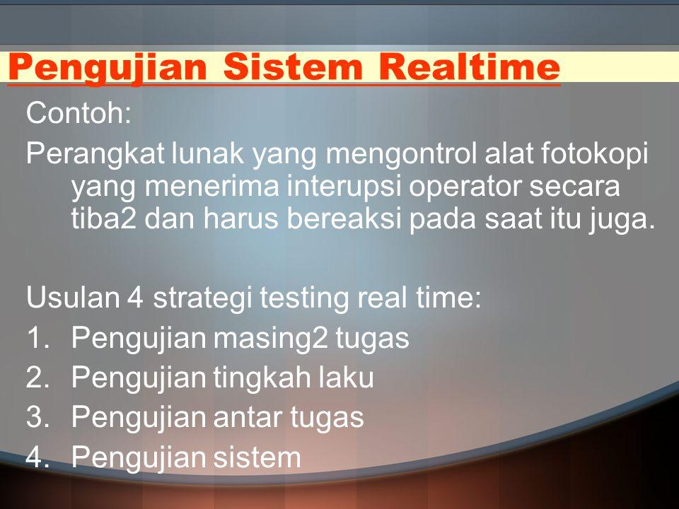 Pengujian Sistem Realtime