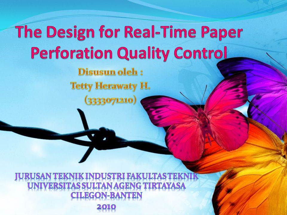The Design for Real-Time Paper Perforation Quality Control
