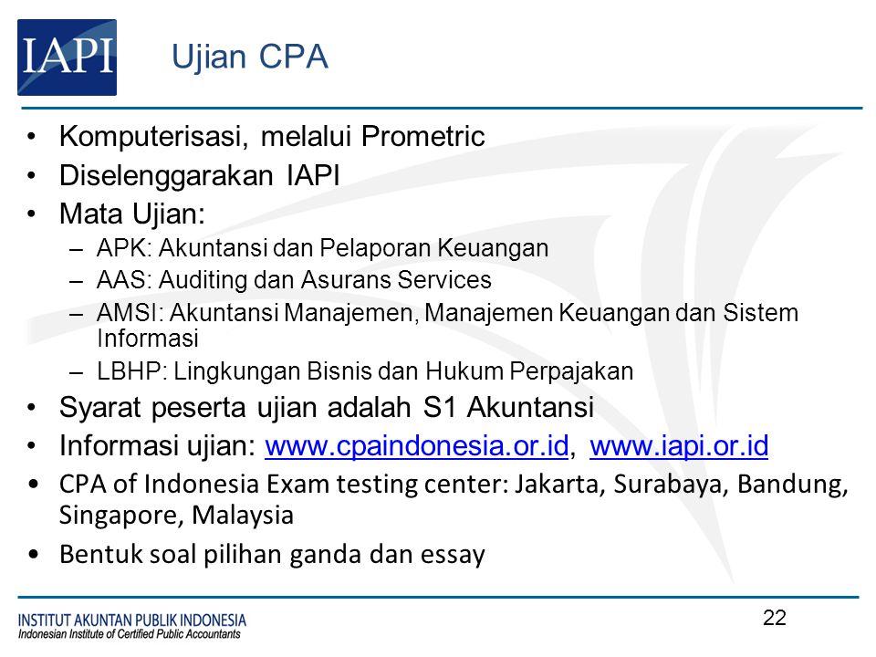 Selamat Datang di CPA of Indonesia Exam
