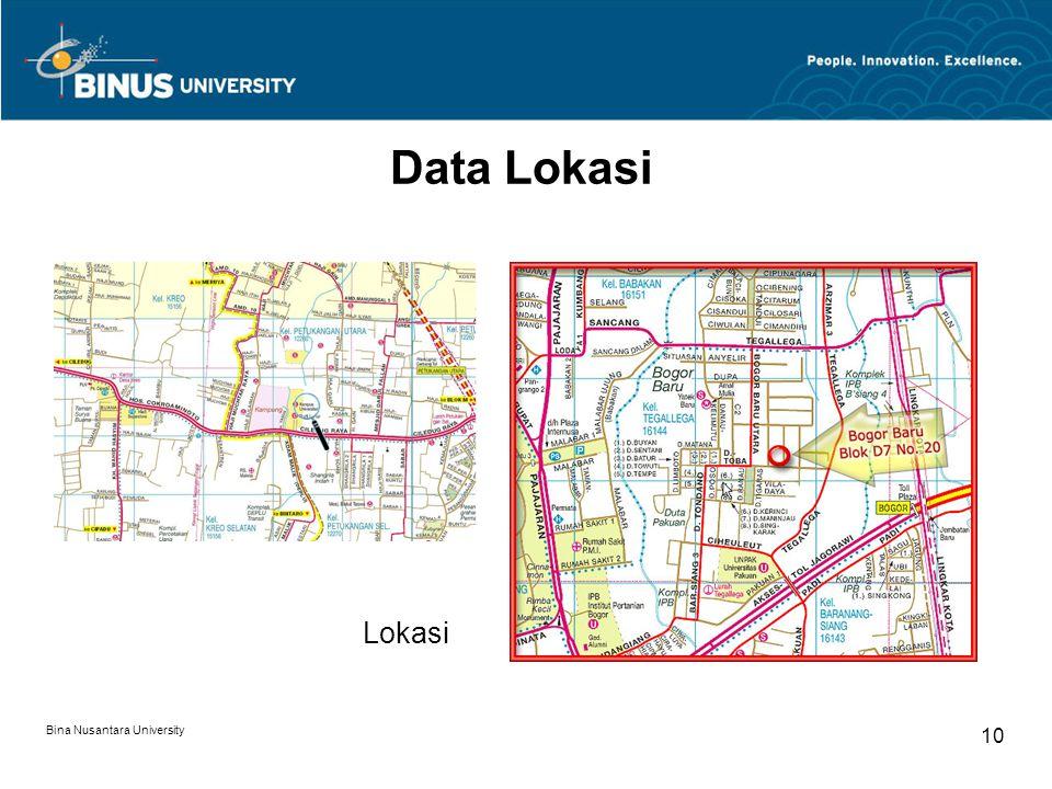 Data Lokasi Lokasi Bina Nusantara University 10