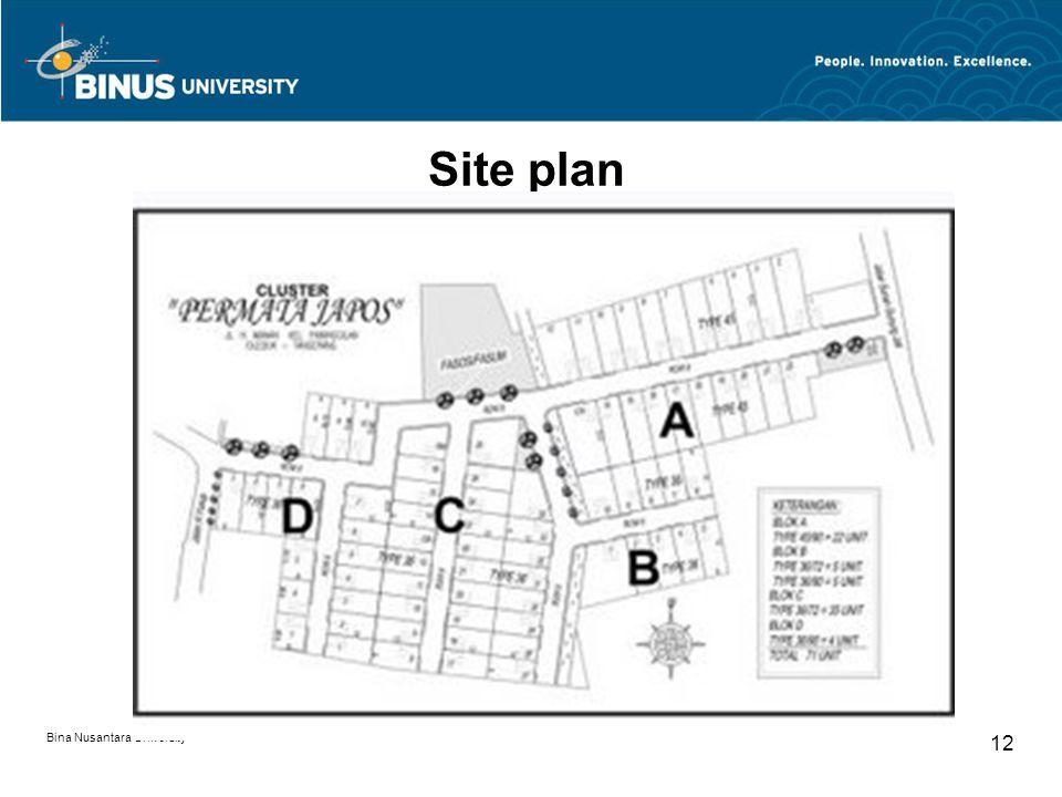 Site plan Bina Nusantara University 12