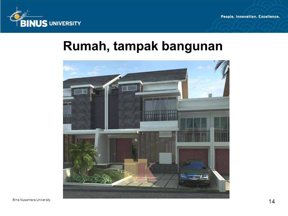 Rumah, tampak bangunan Bina Nusantara University 14