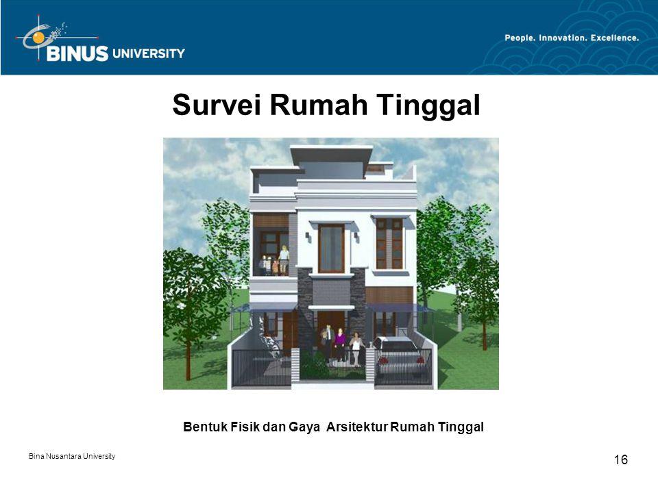 Survei Rumah Tinggal Bentuk Fisik dan Gaya Arsitektur Rumah Tinggal 16