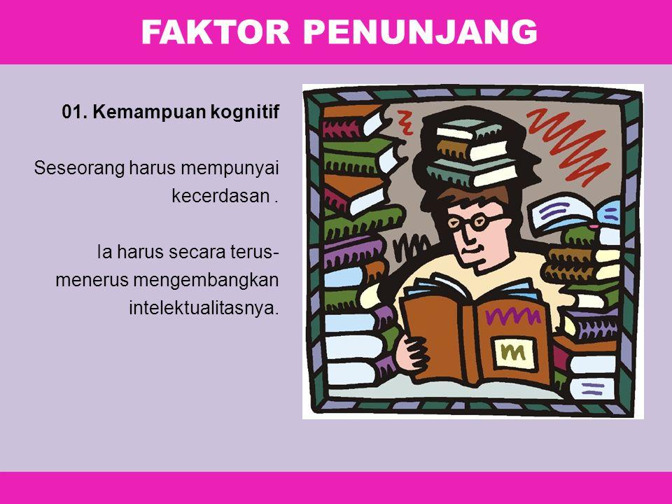 FAKTOR PENUNJANG 01. Kemampuan kognitif