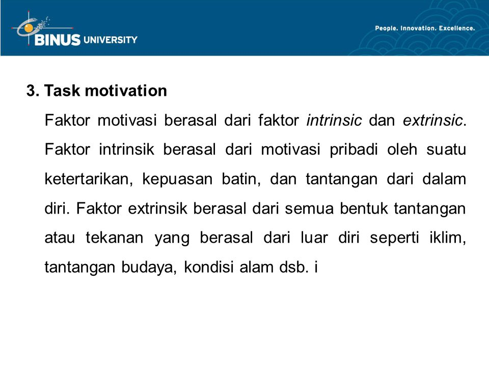 3. Task motivation