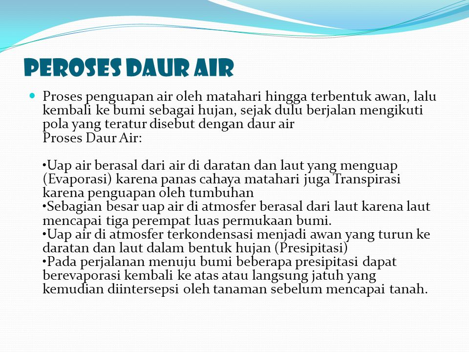 Peroses daur air