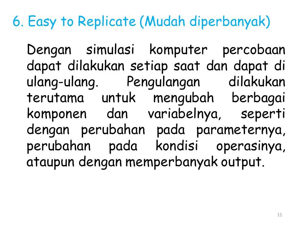 6. Easy to Replicate (Mudah diperbanyak)