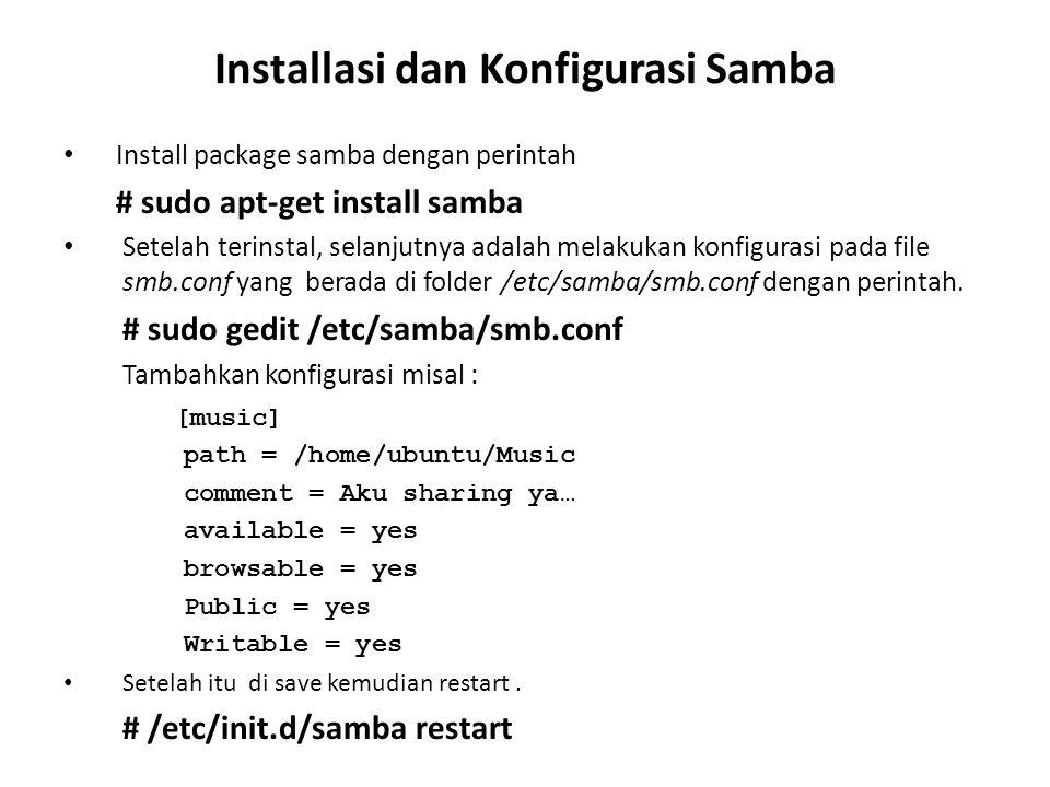 Installasi dan Konfigurasi Samba