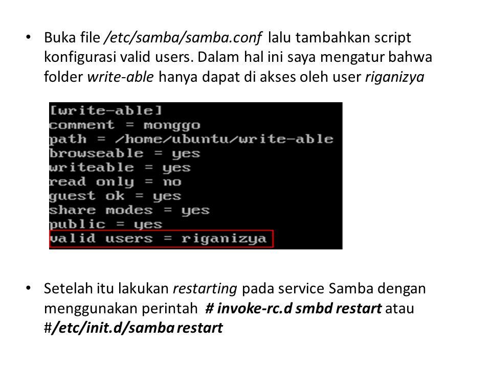 Buka file /etc/samba/samba