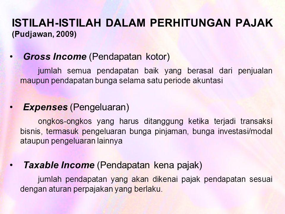 ISTILAH-ISTILAH DALAM PERHITUNGAN PAJAK (Pudjawan, 2009)
