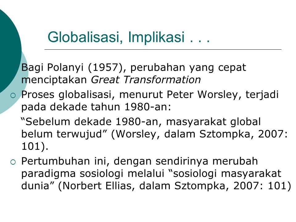 Globalisasi, Implikasi . . .