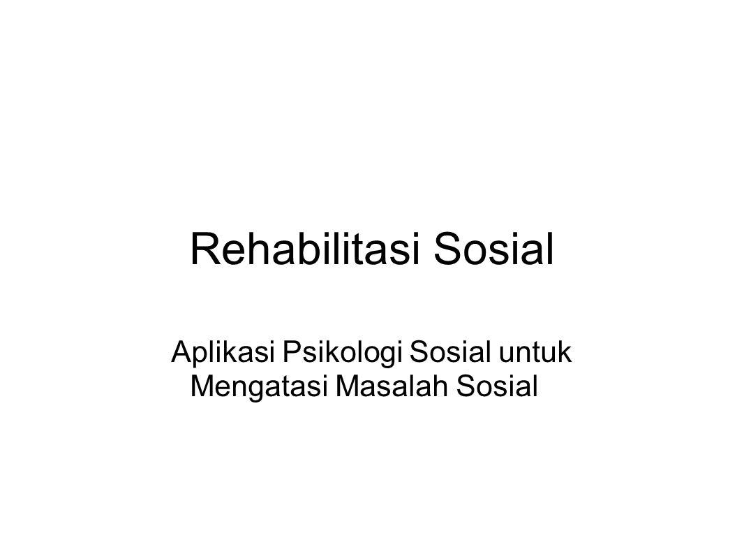 Aplikasi Psikologi Sosial untuk Mengatasi Masalah Sosial