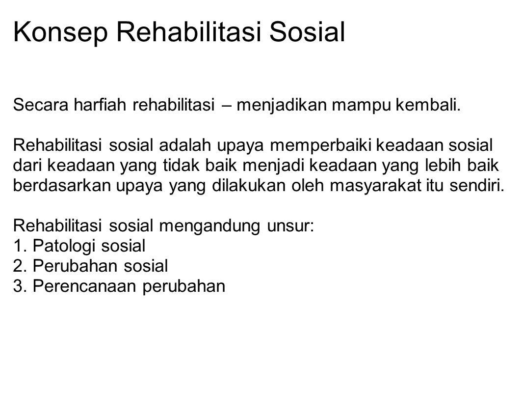 Konsep Rehabilitasi Sosial