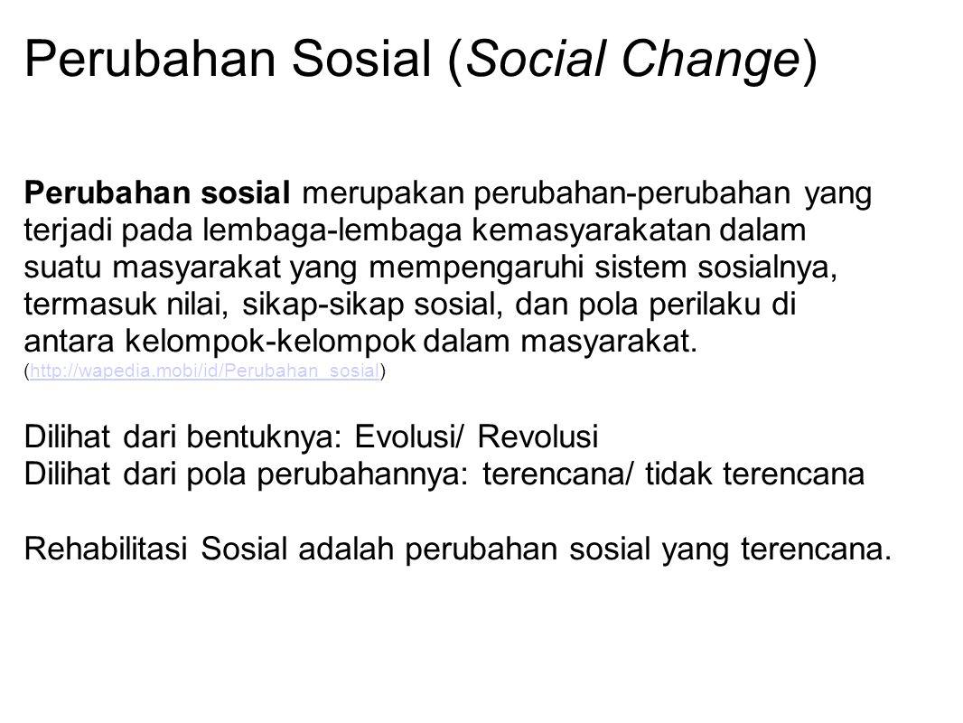 Perubahan Sosial (Social Change)