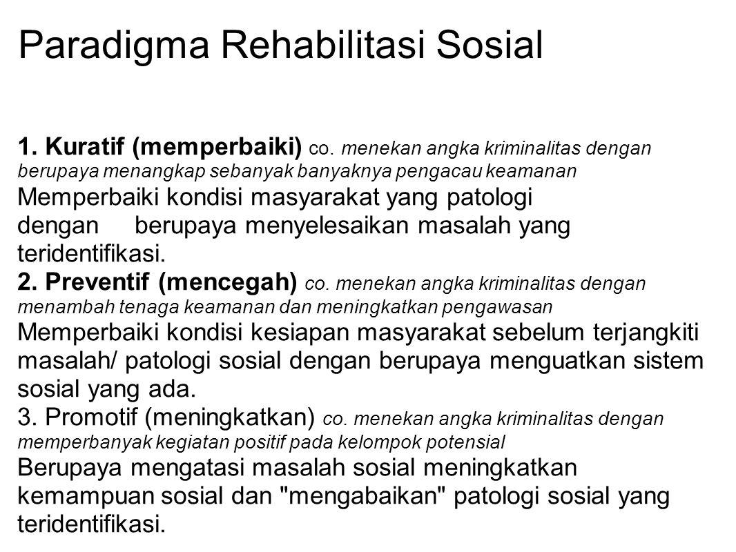 Paradigma Rehabilitasi Sosial