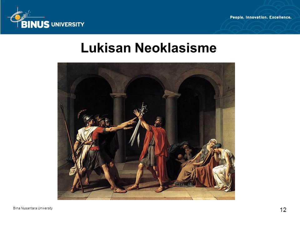 Lukisan Neoklasisme Bina Nusantara University