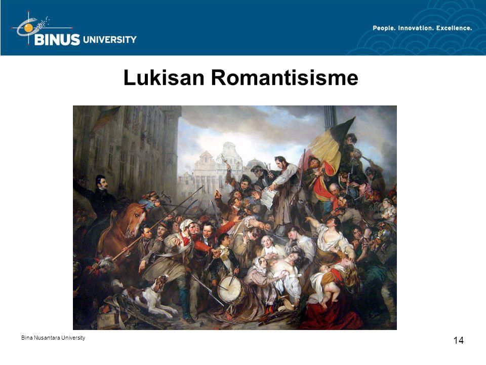 Lukisan Romantisisme Bina Nusantara University