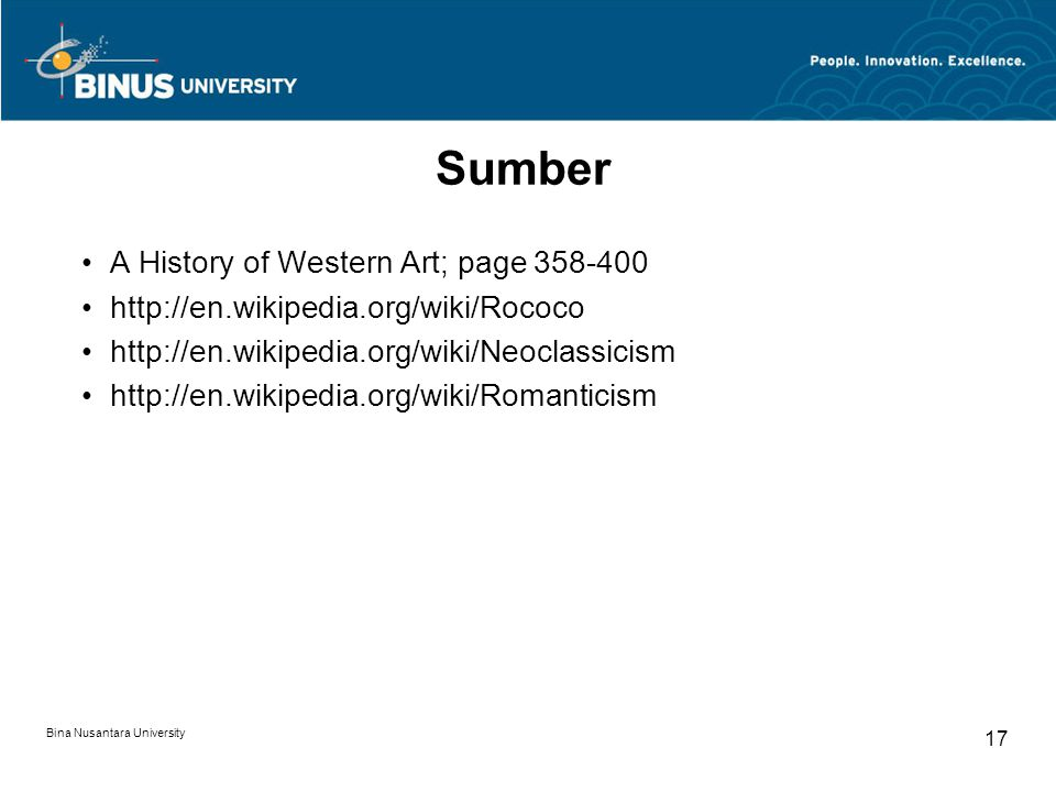 Sumber A History of Western Art; page 358-400