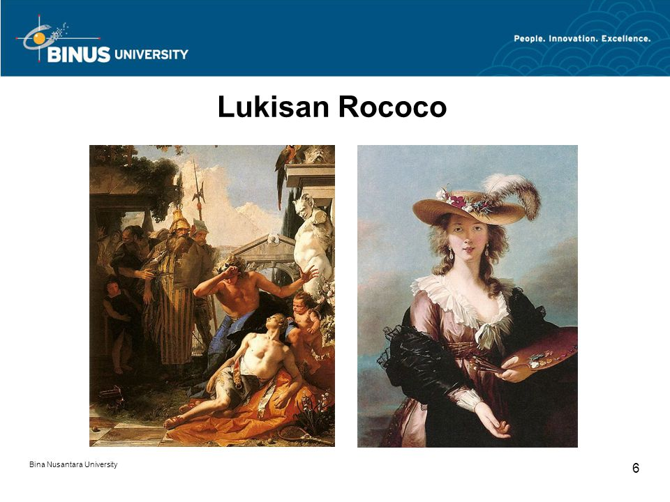 Lukisan Rococo Bina Nusantara University