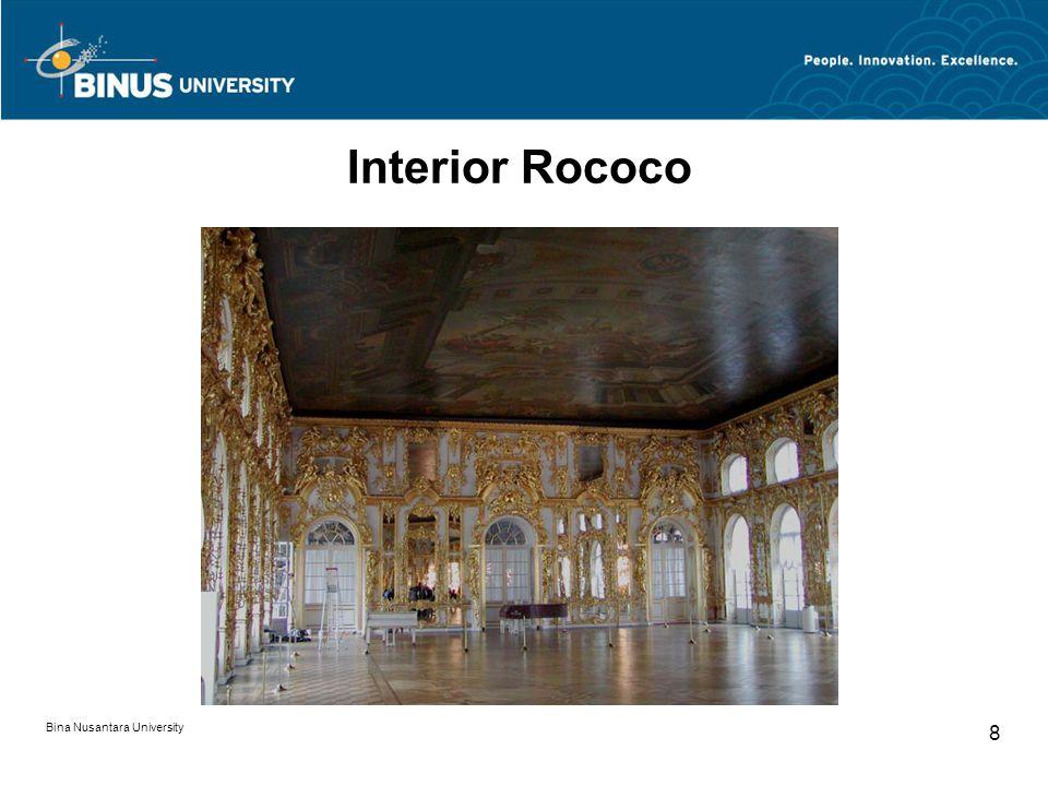 Interior Rococo Bina Nusantara University