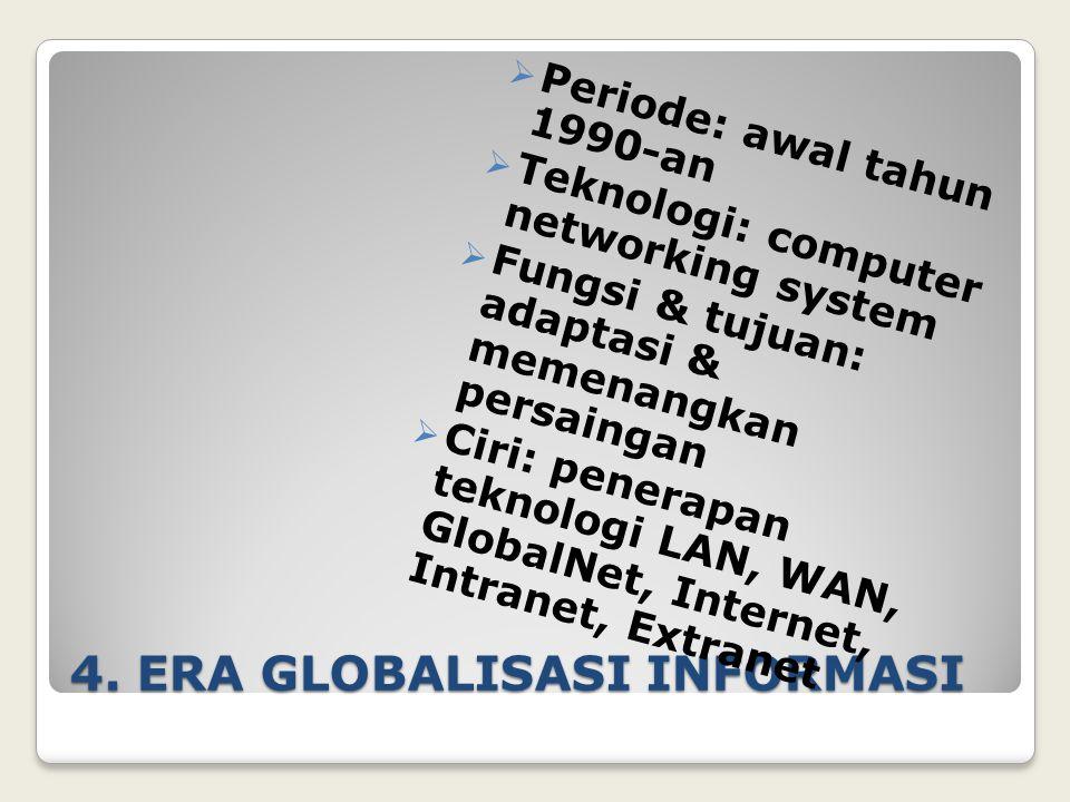 4. ERA GLOBALISASI INFORMASI