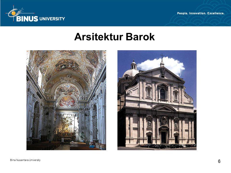 Arsitektur Barok Bina Nusantara University