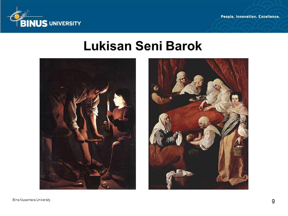 Lukisan Seni Barok Bina Nusantara University